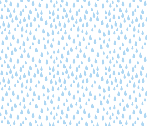 Dancing in the Rain - Blue Raindrops fabric by ceciliamok on Spoonflower - custom fabric