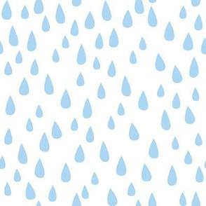 Dancing in the Rain - Blue Raindrops