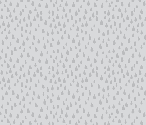 Dancing in the Rain - Grey Raindrops fabric by ceciliamok on Spoonflower - custom fabric
