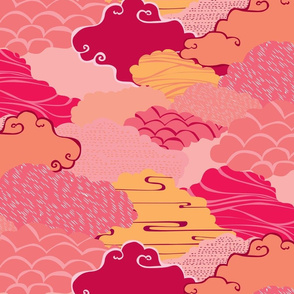 Clouds in Pinks