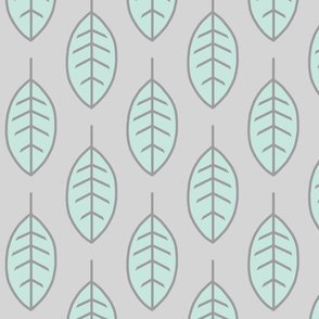 Leaves-mint/silver-Whistler Village