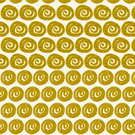 Be the Admiral of your own Lake: gold spiral polka dots on off-white fabric by su_g on Spoonflower - custom fabric