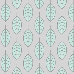 leaves-Smallscale -mint/grey