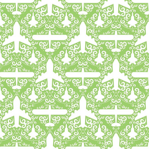 Aircraft Damask (Green)