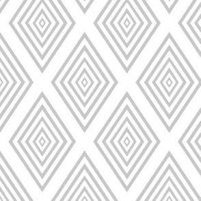 Gray on white nested diamonds by Su_G