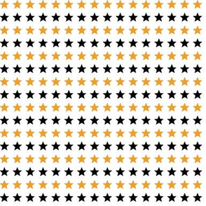 Orange and black stars