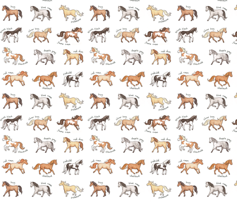Horses fabric by hazel_fisher_creations on Spoonflower - custom fabric
