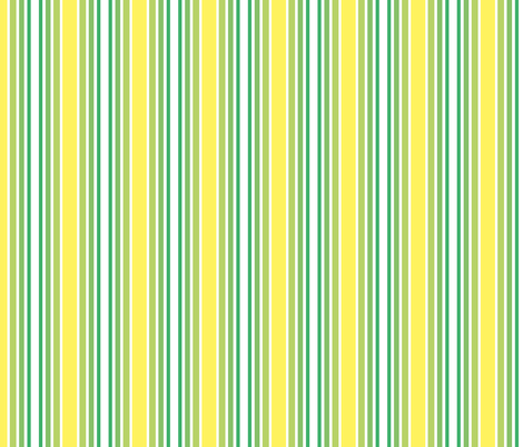 Lemon and lime stripes fabric by arrpdesign on Spoonflower - custom fabric