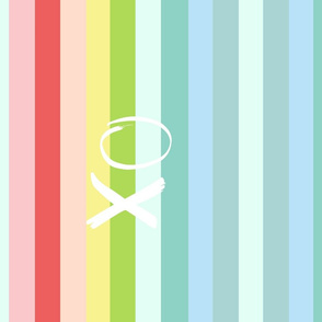 Rainbow  Tropical Mirror - XL LARGE XO