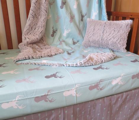 Long Arrow-Whistler Village-Mint/Grey- Baby Nursery