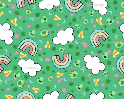 Lucky charms wallpaper onemoretimewithfeeling spoonflower - Lucky charm wallpaper ...