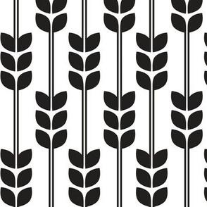 Wheat - Black on White