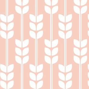 Wheat - White on Peach
