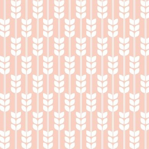 Wheat - White on Peach, Small