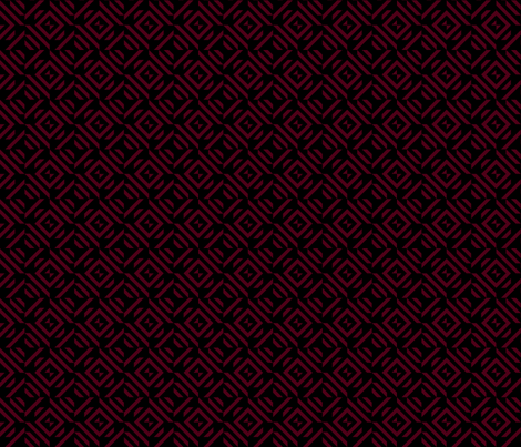 dark red maroon tribal pattern black fabric by juliepitts on Spoonflower - custom fabric