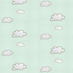 Sketch Clouds Mint