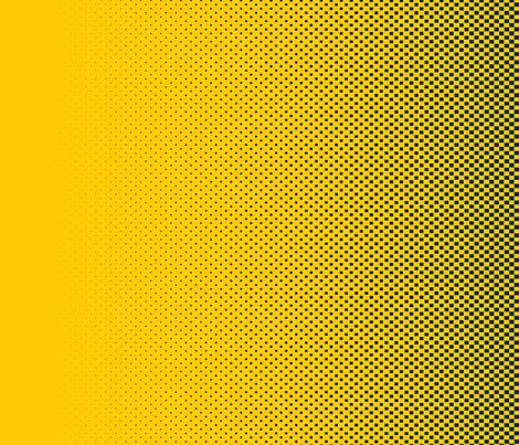 Dean's Yellow & Blue (Univ. of Michigan) Halftone Border Print fabric by midcoast_miscellany on Spoonflower - custom fabric