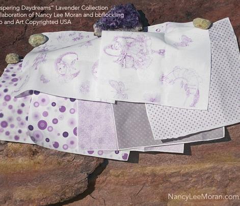 Dapper Dots that Match Lavender Toile
