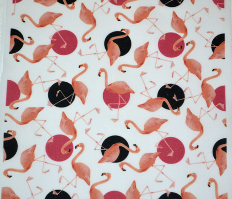 Flamingos on Polka Dots