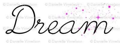 dream sparkle on white