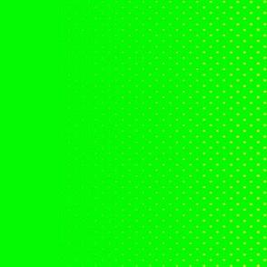 Dean's Green & Yellow Halftone Border Print
