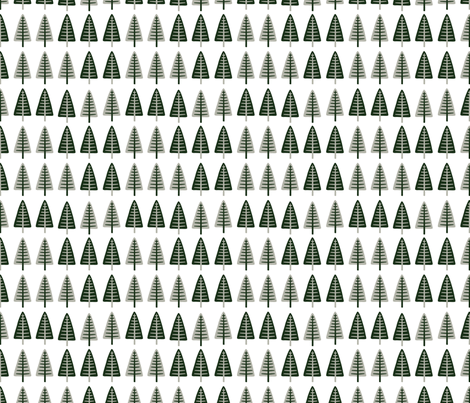 *NEW* scandi trees // by petite_circus fabric by petite_circus on Spoonflower - custom fabric