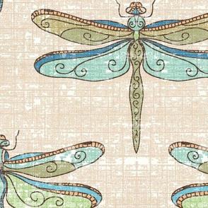 dragonflies - cool tones