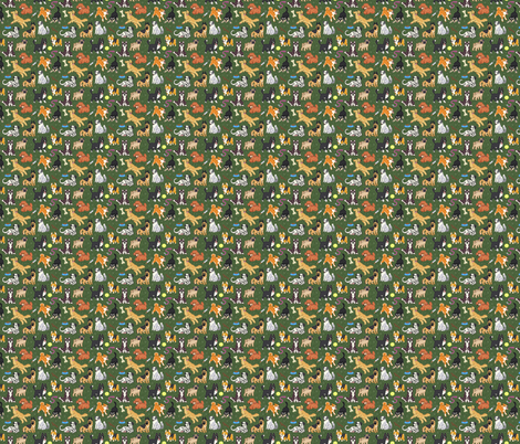Doggies fabric by zynchilada on Spoonflower - custom fabric