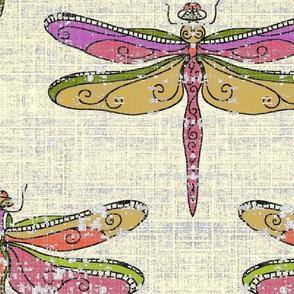 dragonflies - warm tones