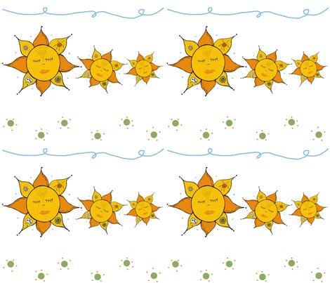 Sunshine Trio fabric by therustichome on Spoonflower - custom fabric