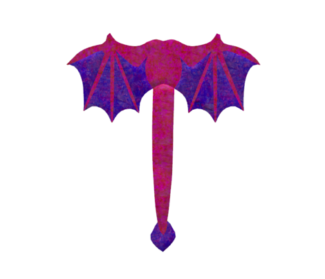 Purple Blue and Magenta Dragon skin