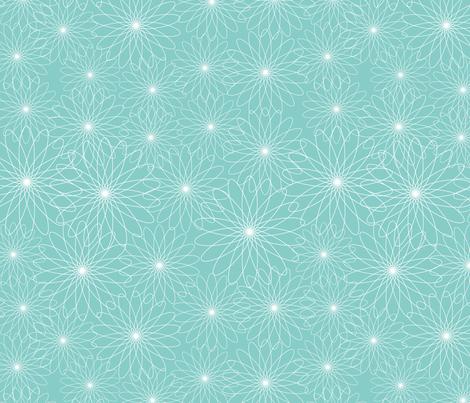 Spirograph Flowers Aqua fabric by snowflower on Spoonflower - custom fabric