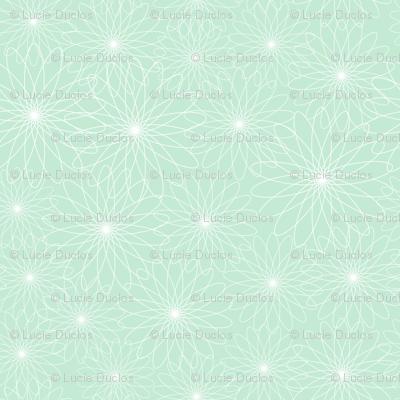Spirograph Flowers Mint