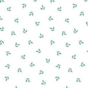 Tiny Leaf Print - Line Art