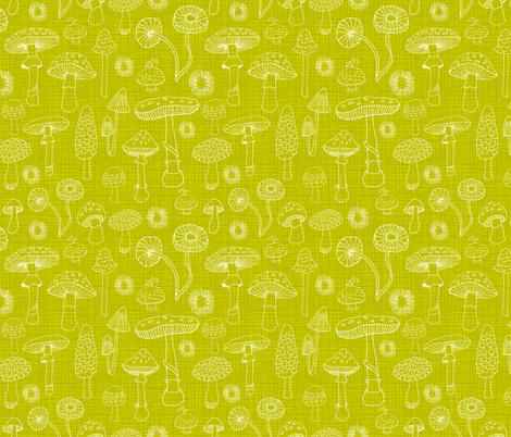 Champignons Verts fabric by snowflower on Spoonflower - custom fabric