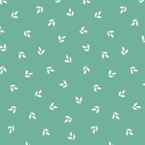 Tiny Leaf Print - Solid