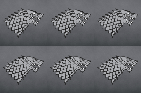 Grey Dire Wolf fabric by julie_mcmullen on Spoonflower - custom fabric