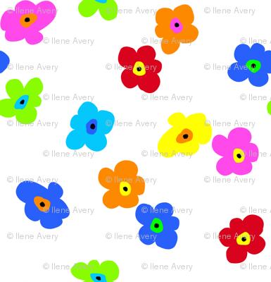 Op Art Floral Toss