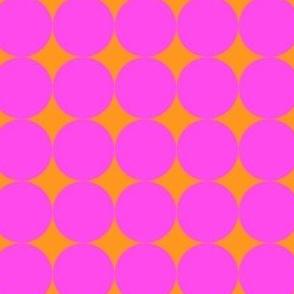 Op Art Circles Pink/Orange