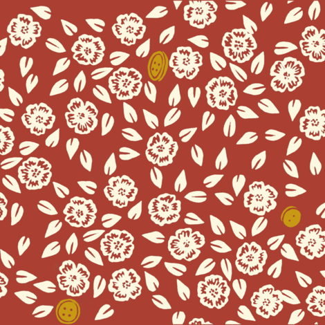 Missing Buttons fabric by landpenguin on Spoonflower - custom fabric