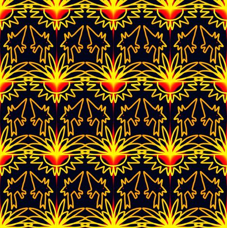 Wild Island Dogs Tequila Sunrise fabric by eve_catt_art on Spoonflower - custom fabric