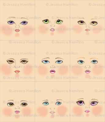 Peach doll faces