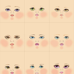 Peach doll faces