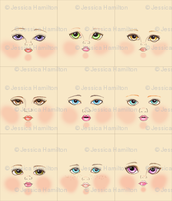 Cream doll faces
