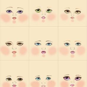 Cream doll faces