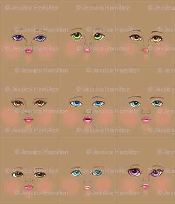Tan skin faces