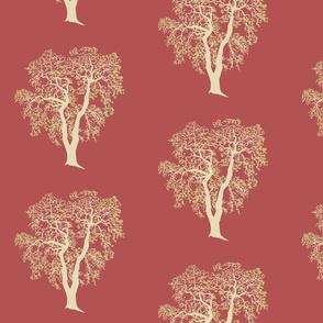 An Oak Tree on Red