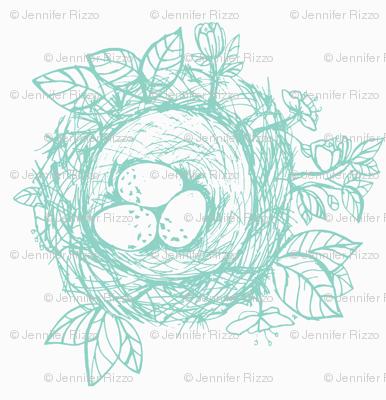 Sketched_bird_nest-aqua blue