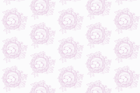 Sketched_bird_nest-lavender fabric by jennifer_rizzo on Spoonflower - custom fabric