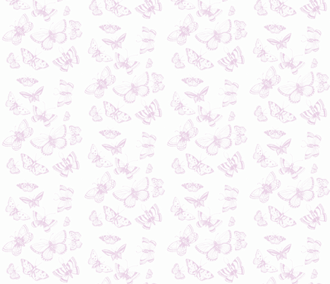 butterfly kisses Lavender fabric by jennifer_rizzo on Spoonflower - custom fabric